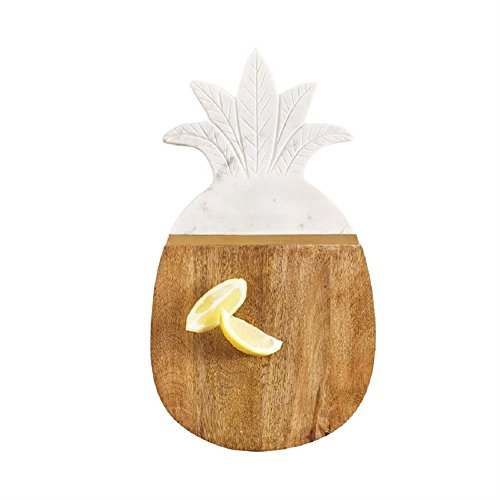 Mud Pie 4755043 Pineapple Serving Board, One Size, White/Brown