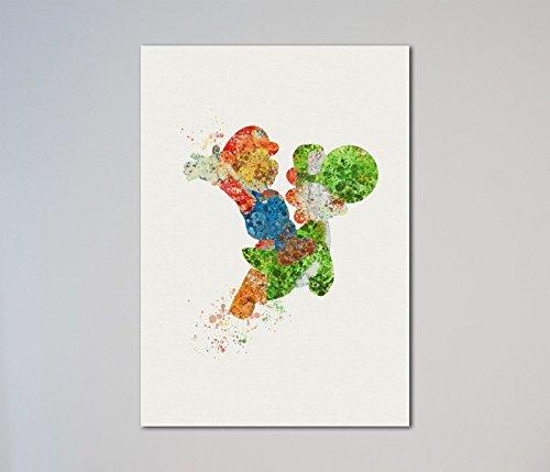 Super Mario Yoshi Print -
