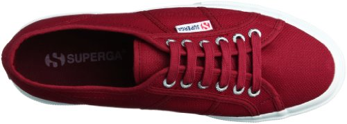 Superga Women's Red Trainers Red Cotu 88drxqn
