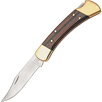 Buck Knives 110 Famous Folding Hunter Knife with Genuine Leather Sheath - TOP SELLER