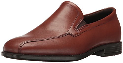 ECCO Men's Edinburgh Bike Toe Slip On Loafer Slip-On, Cognac, 41 EU / 7-7.5 US