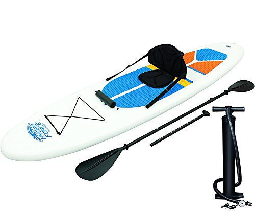 HydroForce White Cap Inflatable Stand Up Paddleboard SUP and Kayak 10' (Inflatable Board Paddle)
