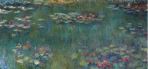 [Oil Painting 'Claude Monet-Water Lilies,19th Century' Printing On Perfect Effect Canvas , 16x34 Inch / 41x88 Cm ,the Best Home Office Gallery Art And Home Decor And Gifts Is This Best Price Art Decorative Canvas] (Jessica Rabbit Costumes Ideas)