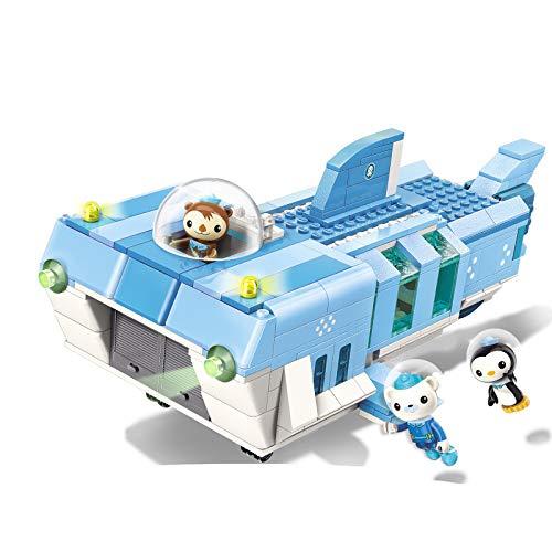 Octonauts White Shark Base Barnacles Shellington Peso 403pcs Building Block Set-Without Original Box (3705)]()