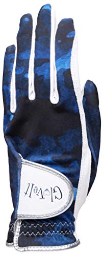 (Women's Golf Glove - Glove It - Left Hand Golf Glove - 2019 Blue Camo - Soft Cabretta Leather Gloves - UV Spectrum Protection - Ladies Performance Grip Gloves for Golfing & Sports (X-Large) )