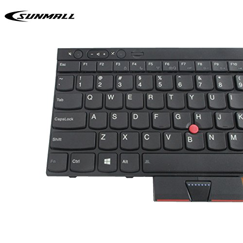 Laptop Keyboard Compatible for Lenovo IBM ThinkPad L430 L530 US Layout Black Color