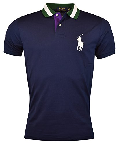 Polo Ralph Lauren Men's Wimbledon Ball Boy Tennis Polo Shirt Large French Navy