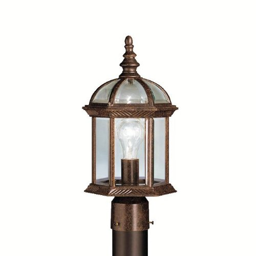 KICHLER  9935TZ One Light Outdoor Post Mount