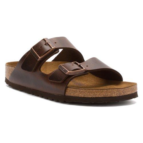 Birkenstock Men's Arizona Soft Footbed Brown Amalfi Leather 36 R