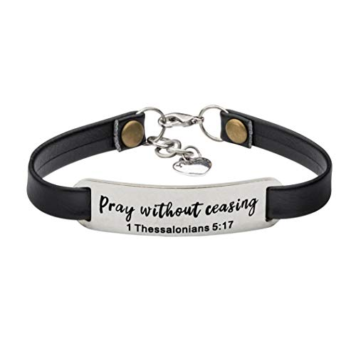- UNQJRY Prayer Bracelet for Women Christian Religious Jewelry for Her Easter Gifts Prayer Without Ceasing