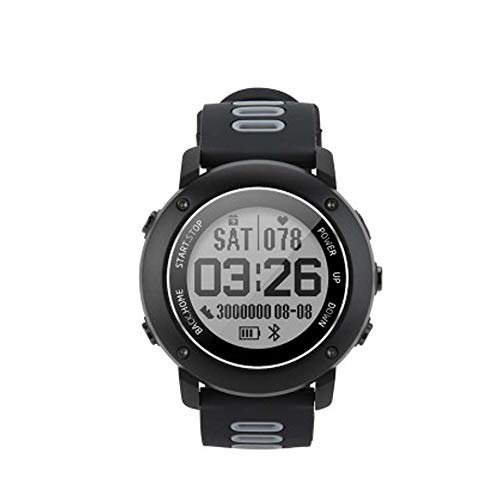 Jian E Outdoor GPS Positioning Compass Climbing Snorkeling Swimming Table Function Sports Track Heart Rate Step Watch, Smart Sports Watch // (Color : ()