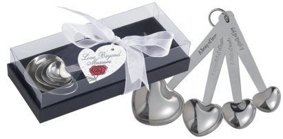 Fashioncraft Heart Shaped Measuring Spoons (20 - Measuring Spoons Wedding Favors