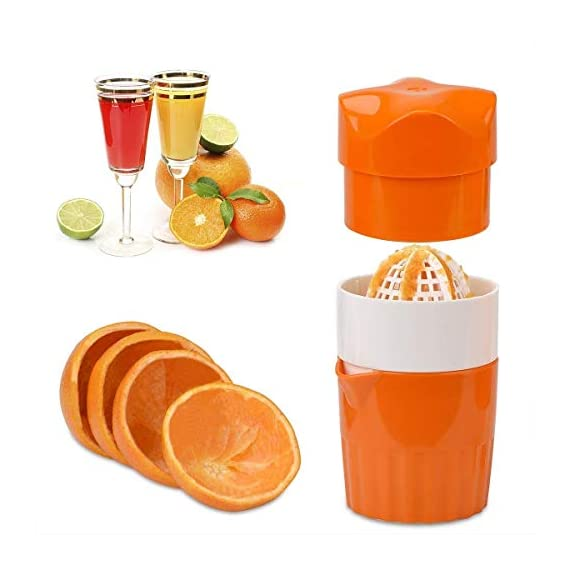 ScentRose Citrus Orange Juicer Lemon Squeezer, Manual Hand Juicer with Strainer and Container, for Lemon,Orange,Lime,Citrus(Random Color) 1