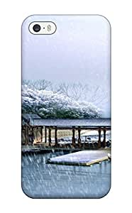 Pure For HTC One M7 Phone Case Cover Hybrid PC Silicon Bumper Snowing