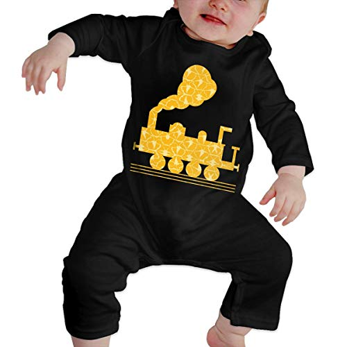 Unisex Baby Train Long Sleeve Romper Baby Clothes Outfits -