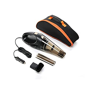 Car Vacuum Cleaner,Hikeren DC 12-Volt 106W Wet&Dry Handheld Auto Vacuum Cleaner,14FT(4.3M)Power Cord with One Carry Bag