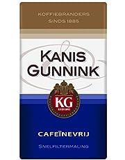 Kanis & Gunnink Filterkoffie Cafeïnevrij (3 Kilogram, Intensiteit 05/09, Medium Roast Koffie), 6 x 500 Gram