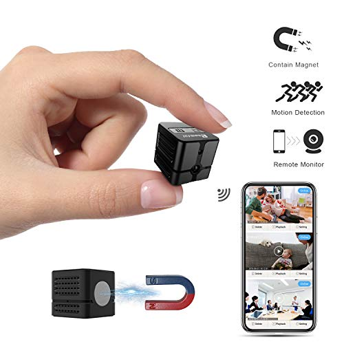 mful Mini WirelessHiddenCameraReal 1080P, Auto Night Vision MonochromeCovert,Built-in Magnet,No Lags & No Frozen Streaming,Works with Multiple Viewers ()