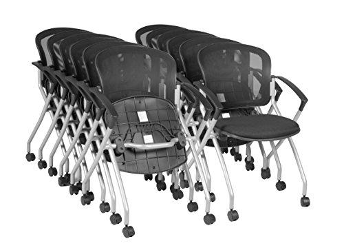 Regency 2309BK12PK Cadence Nesting Chairs (Set Of 12), Black By Regency