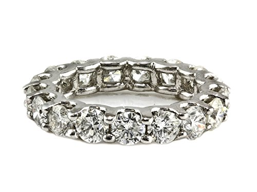 4.00ct Floating Round Diamond in 14K White Gold Eternity Band Ring - Size 6 by UltimateChoice