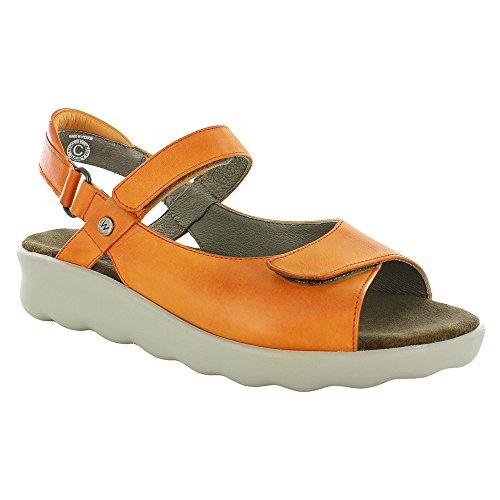 Sandals Vegi Leather Pichu 01890 Comfort Orange Wolky 0PSWHx