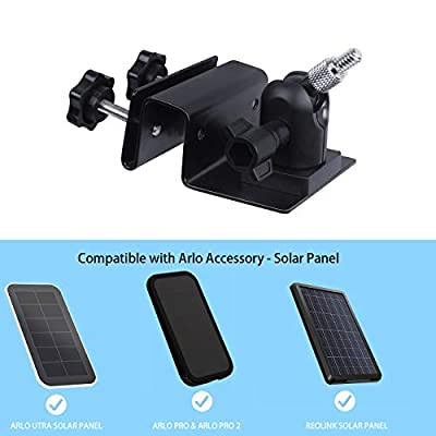 Koroao Gutter Mount Compatible with Arlo Pro Solar Panel, Arlo Ultra Solar Panel, Reolink Argus 2 - The Best Wall Mount Bracket Accessories for Arlo Solar Panel(2-Pack,Black): Camera & Photo