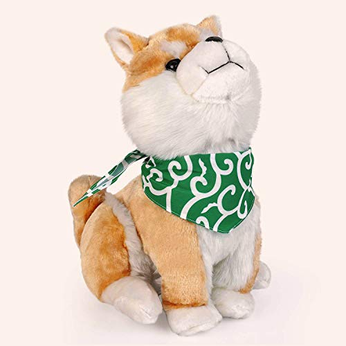 "BuryTony Kawaii Japan Shiba Inu Stuffed Animal Sitting Shiba Dog with Neckerchief 13"" Plush Toy"