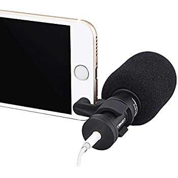 Comica CVM-VS08 Professional Cardioid Condenser Directional Mini Shotgun Microphone for SmartPhones ,Vlogging Microphone for iphone and YouTube video ( Wind Muff included)