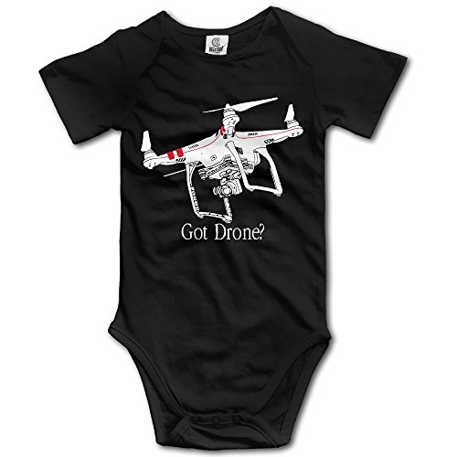 Quad Autograph - Unisex Baby Short Sleeve Got Drone Phantom Quadcopter Onesies