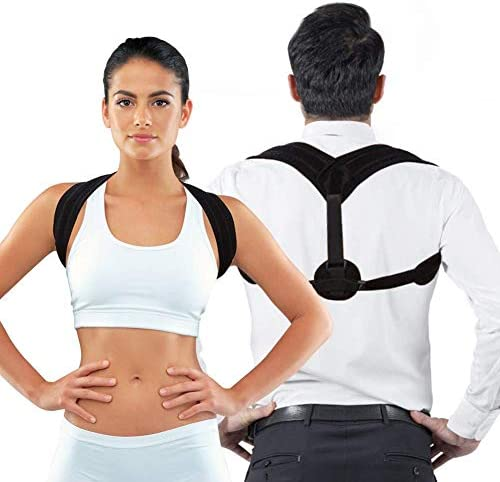 Posture Corrector, Adjustable Good Correction Belt for Kyphosis, Comfortable Shoulder Brace for Slouching for Men & Women, Suitable for Running Sports Back and Neck Pain Relief Spinal Support