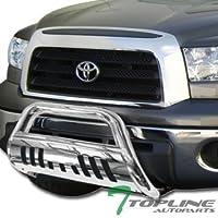 Topline Autopart Polished Stainless Steel Bull Bar Brush...