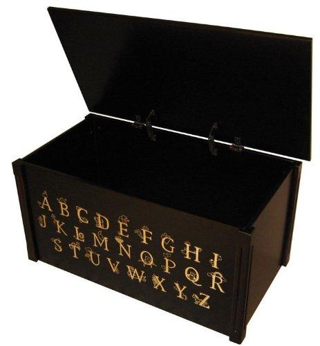 - Wood Creations Espresso Finish ABC Toy Box