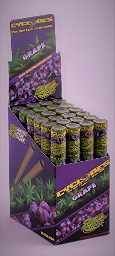 Flavored Pipe Tobacco (12 Total Natural Cyclone Hemp Cones Grape Flavored (6 Packs of 2) + XL Beamer Doob Tube Non Tobacco Non Nicotine + Limited Edition Beamer Smoke Sticker Made of Pure Hemp)