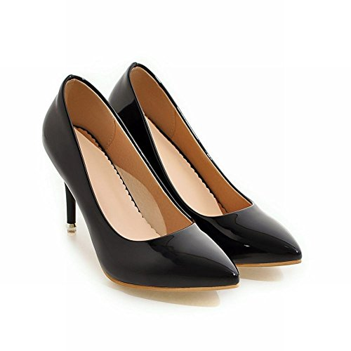 Court Shoes High Slip Stiletto Shoes Black On Chic Mee Heel Women's zn8YqtT