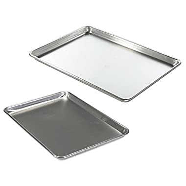 Nordic Ware Natural Aluminum Commercial Baker's Half Sheet and Big Sheet
