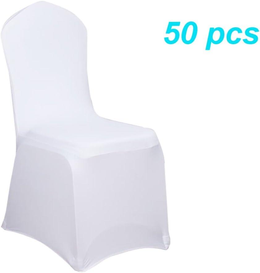 MCTECH/® lazo Fundas de silla silla Stretch acelectronic Darice Moderna silla protectora para bodas y fiestas 50 Packs Bianca