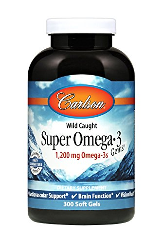 Carlson by Super Omega 3 Gems Fish Oil Concentrate --300 Sof