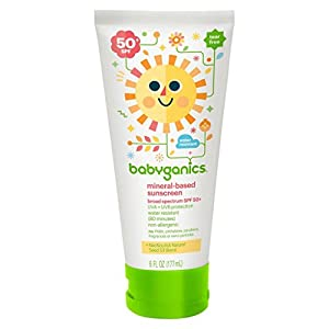 Babyganics Mineral-Based Baby Sunscreen Lotion, SPF 50, 6oz Tube