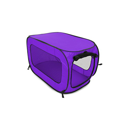 (Beatrice Home Fashions SOLPPK00PUR Pop Up Pet Kennel Portable Pet Kennel Cage, Purple)