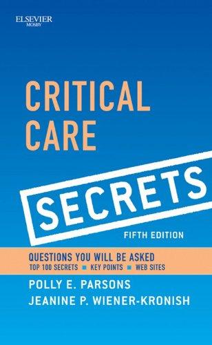 Critical Care Secrets Pdf