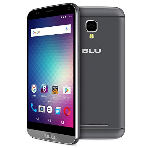 "BLU Dash XL  - 5.5"" US GSM Unlocked Smartphone - 8GB+1GB RAM - Grey"