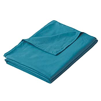 Image of PANDAHOME 48'x72' Teal Duvet Cover, Premium Polyester Microfiber Removable Duvet Cover for Weighted Blanket-Ocean Teal PANDAHOME B07Z8STJ6S Weighted Blankets