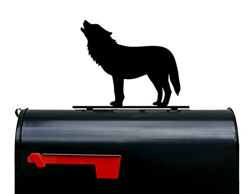 Wolf Mailbox Topper / Plaque / Sign