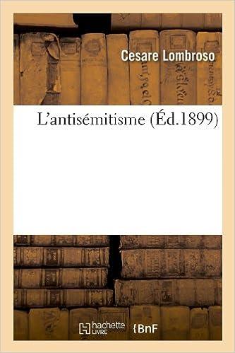 Livre L'antisémitisme (Éd.1899) pdf