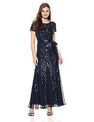 Short Sleeve Embelished Sequins Gown