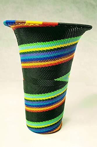 (Fair Trade Handcrafted Zulu Wire Vase)