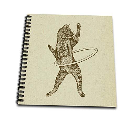 3dRose Hula Kitty-DB 223283_1 - Libro de dibujo de hula de gato – 20,32 x 20,32 cm