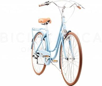 Capri Bicicleta de Paseo Berlin Azul-Marrón 6v: Amazon.es: Deportes y aire libre