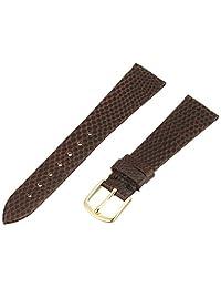 Hadley-Roma Men's MSM700SB-180 18mm Short Brown Genuine Lizard Leather Watch Strap