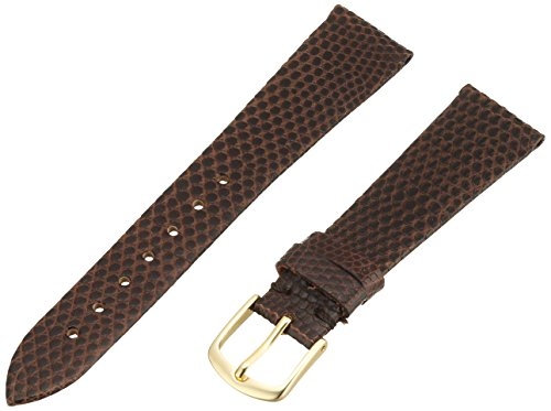 Hadley-Roma Men's MSM700SB-180 18-mm Short Brown Genuine Lizard Leather Watch Strap